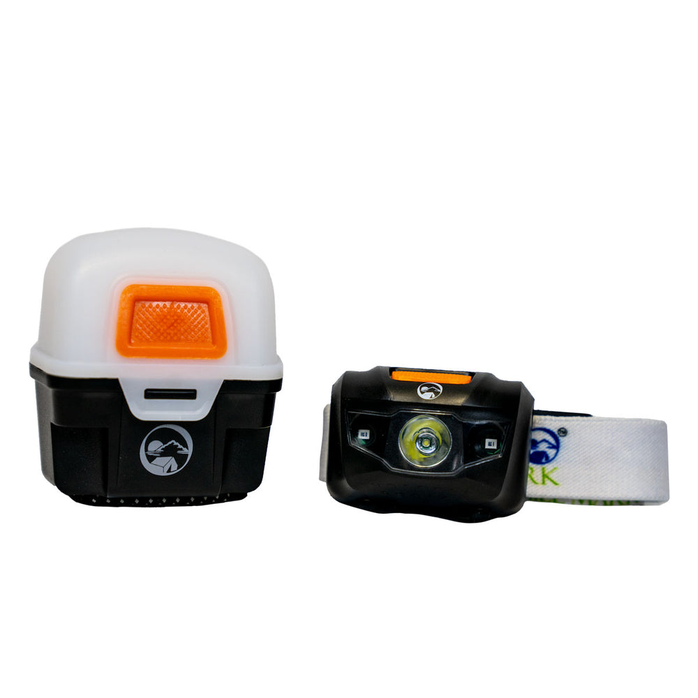 BRAVO Headlamp with Magnetic, Bungee, Protective Lantern Case (3 Color Options)