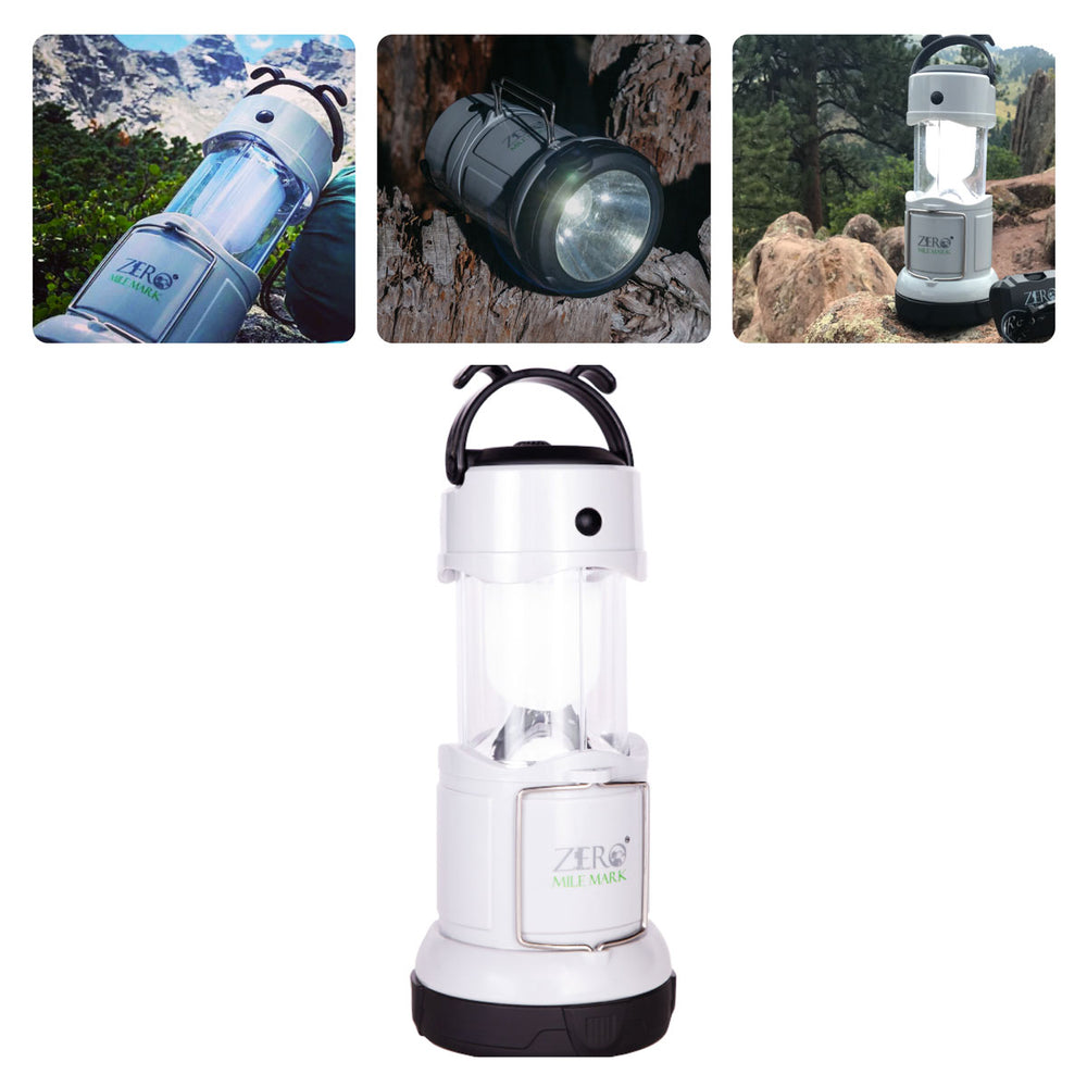 Zero Mile Mark™ Rechargeable Multifunction Lantern / FM Radio / Flashlight / Power Bank