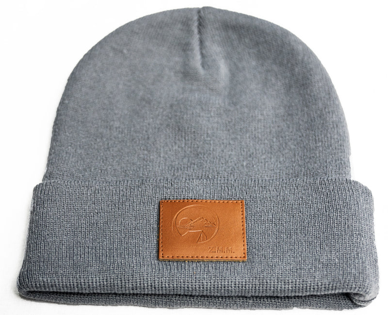 Zero Mile Mark™ Official Logo Beanie with Leather Patch (4 Color Options)