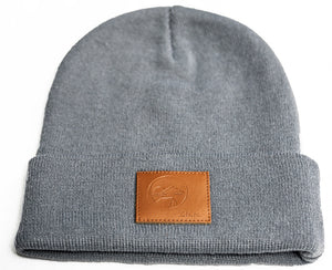 Zero Mile Mark™ Official Logo Beanie with Leather Patch - Zero Mile Mark