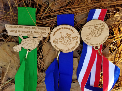 wooden race medals