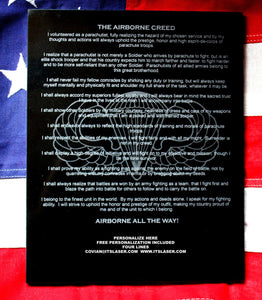 AIRBORNE CREED, Granite plaque
