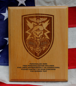 Army MACV SOG plaque