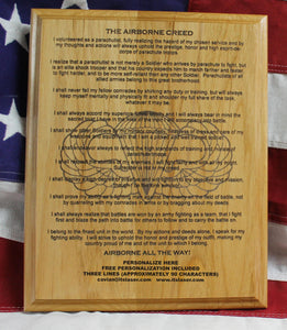 AIRBORNE CREED Plaque