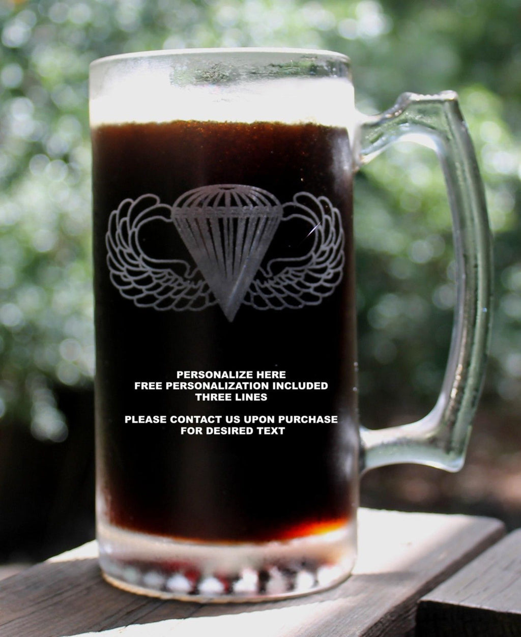 Basic Parachutist Badge Airborne Beer Mug