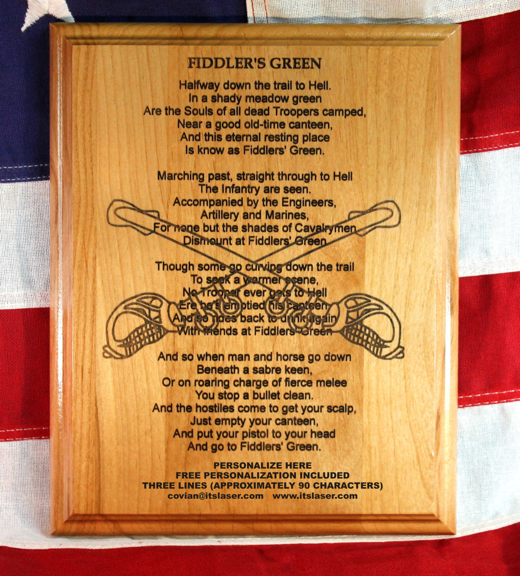 """Fiddlers' Green"" The Cavalrymen's Poem"