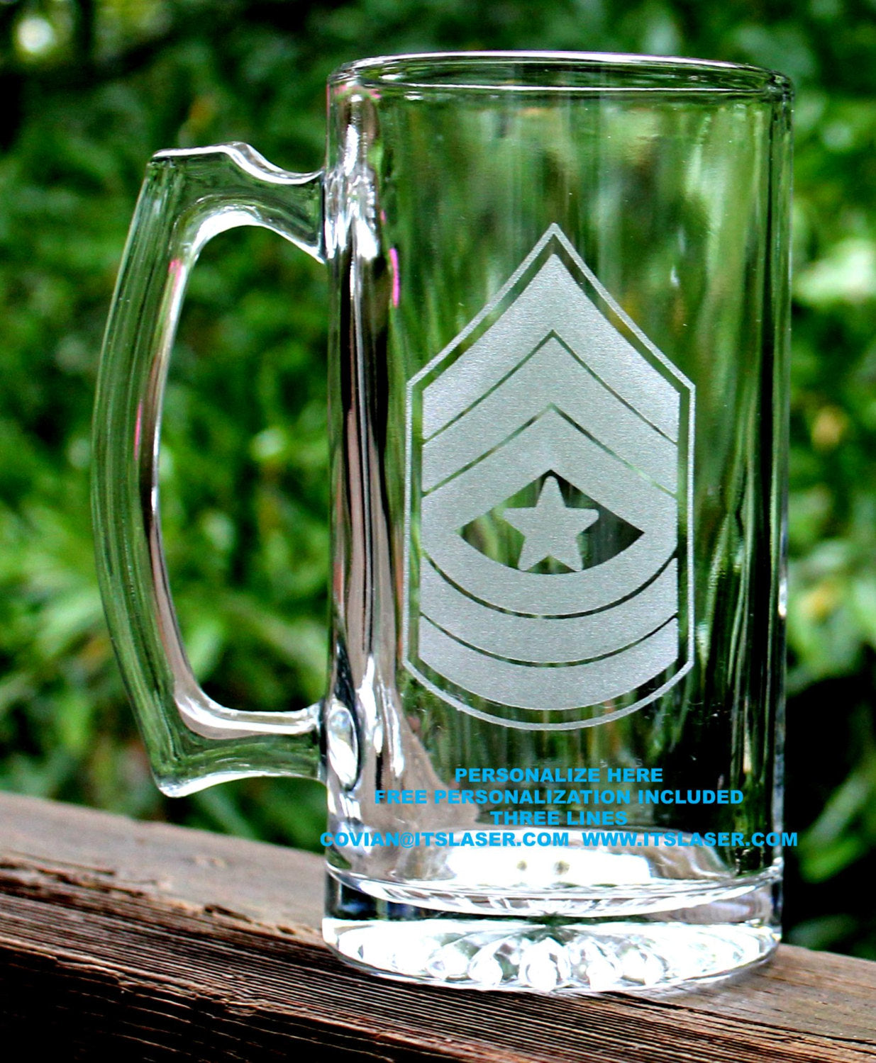 Army Sergeant Major Beer Mug