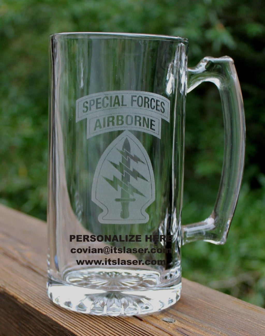 US Army Special Forces AIRBORNE Beer Mug