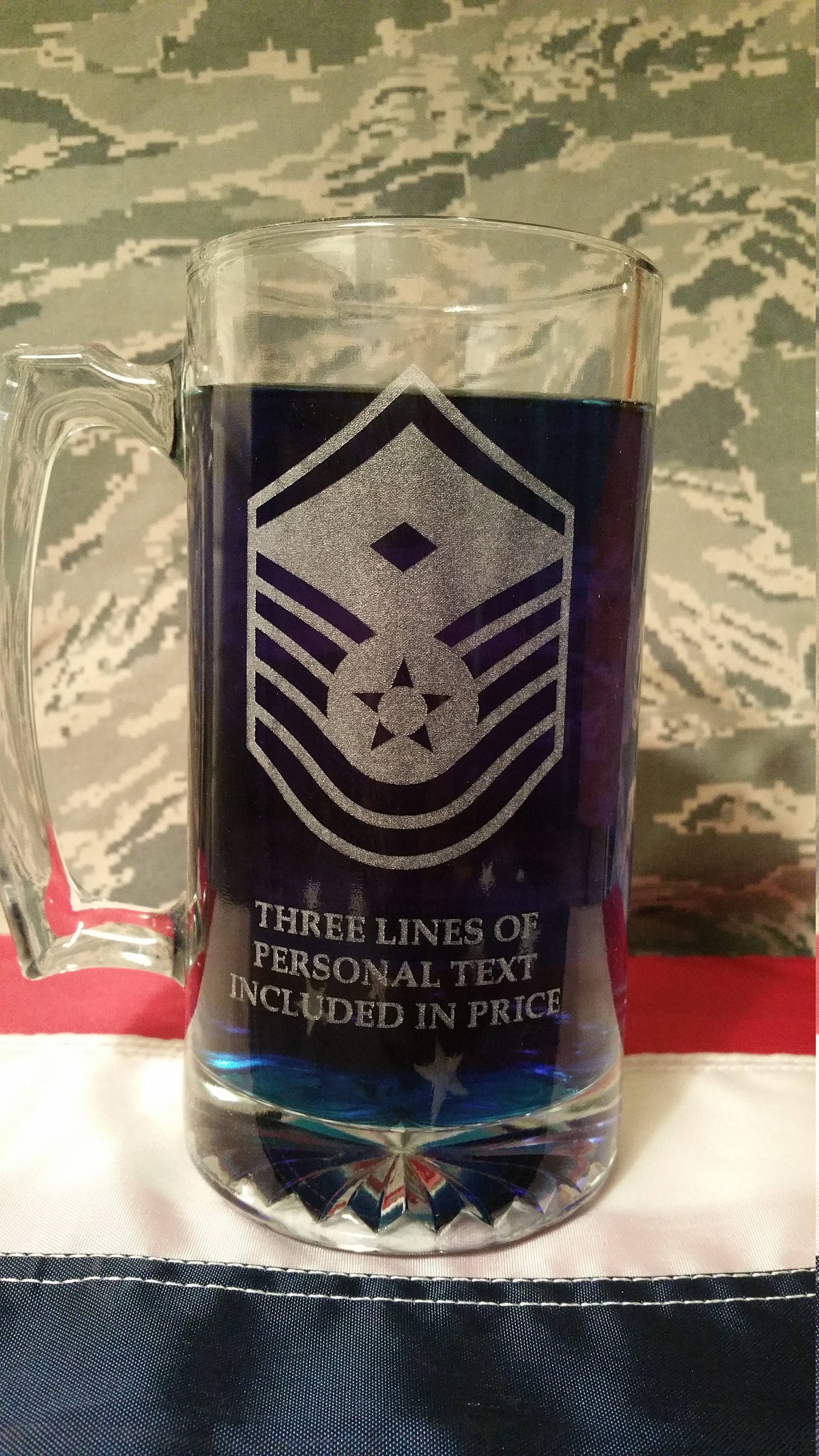 Air Force Senior NCO and First Sergeant Beer Mug