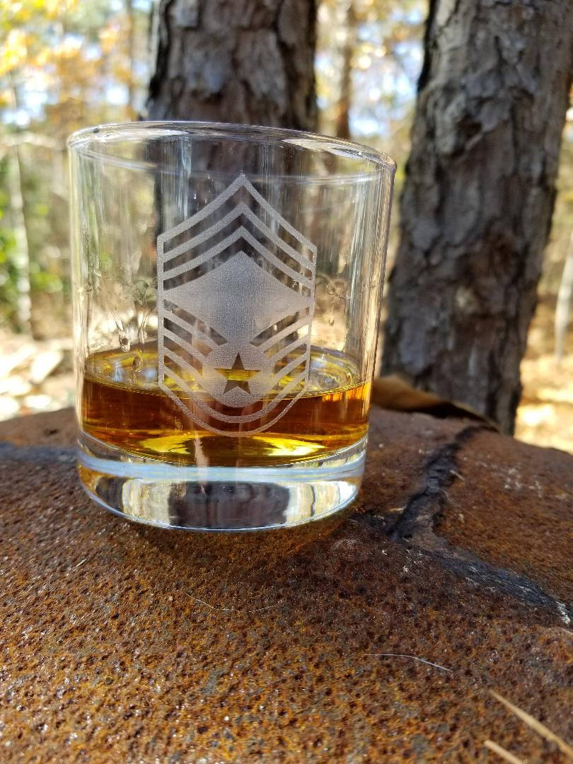 Rock / Whiskey tumbler -- set of 4