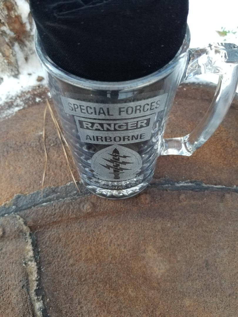 """Tower of Power"" Special Forces Ranger Airborne Beer Mug"