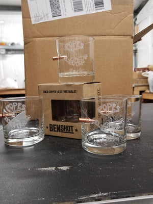 Ben Shot Whiskey glass, Rock glass, tumbler