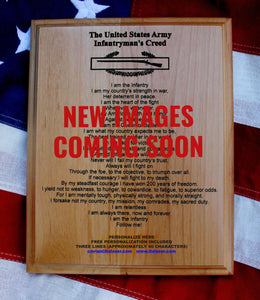 US Army Infantryman's Creed Plaque, Expert Infantryman Badge EIB