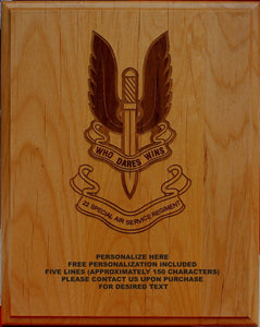 22 Special Air Service Regiment Plaque
