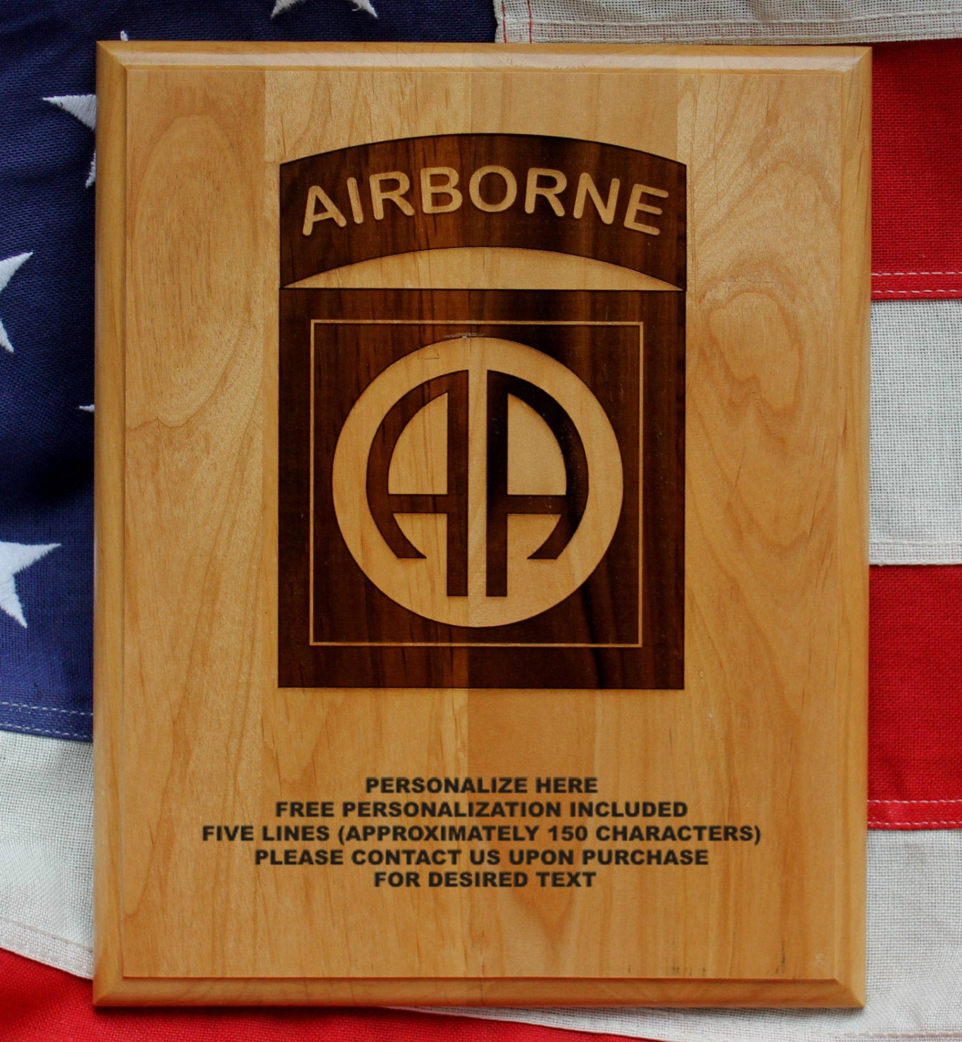 82nd Airborne Division Plaque