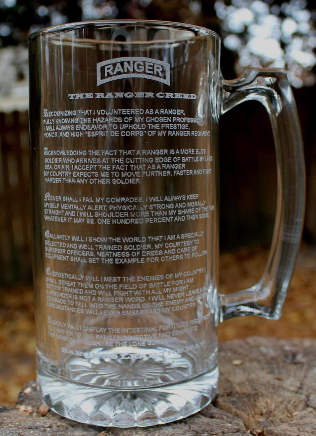 US Army Ranger Creed Beer Mug