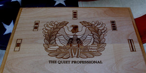 U.S. Army Chief Warrant Officer Plaque, Eagle Rising, The Quiet Professional