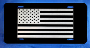 US FLAG, Aluminum License Plate, 6 inch x 12 inch, Custom gift