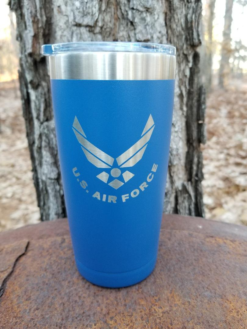 INSULATED TUMBLER TRAVEL MUG 20 OZ AIR FORCE LOGO