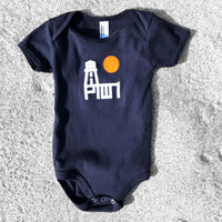 BABY ONESIE / PTOWN LTH / NVY