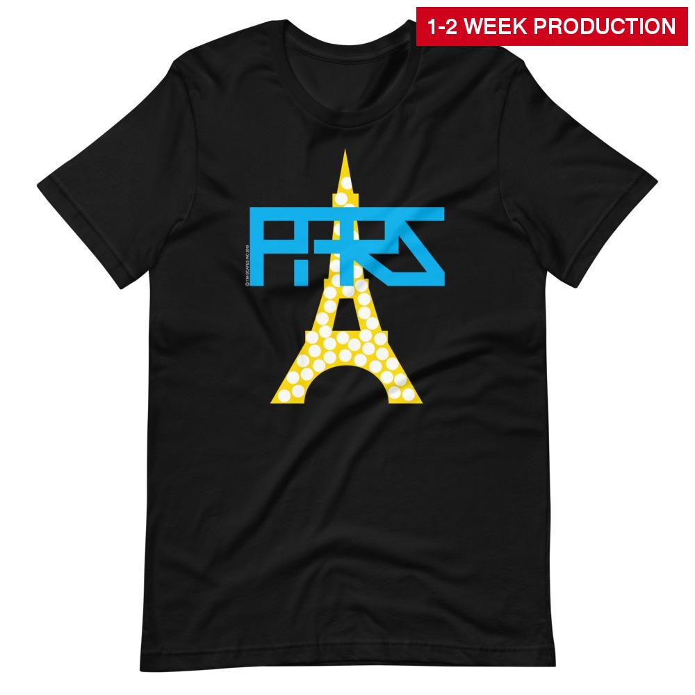 Tee / Paris Eiffel Tower Xs Crew Neck T