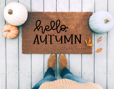 Hello Autumn Doormat - A Little Tinsel