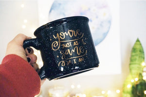 You're Just As Sane As I Am / Black Campfire Mug - A Little Tinsel