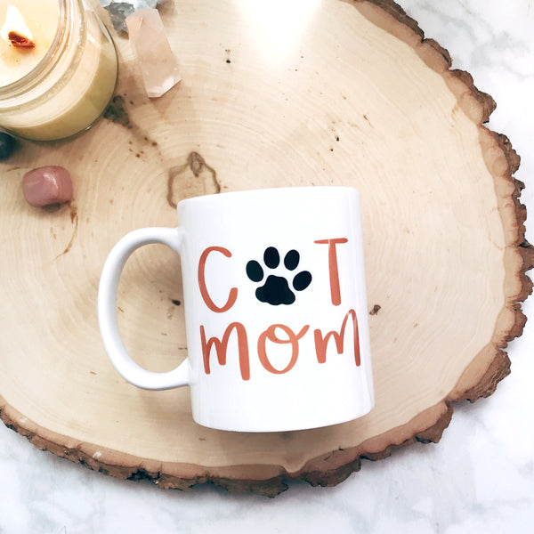 Cat Mom Paw Print Mug - A Little Tinsel