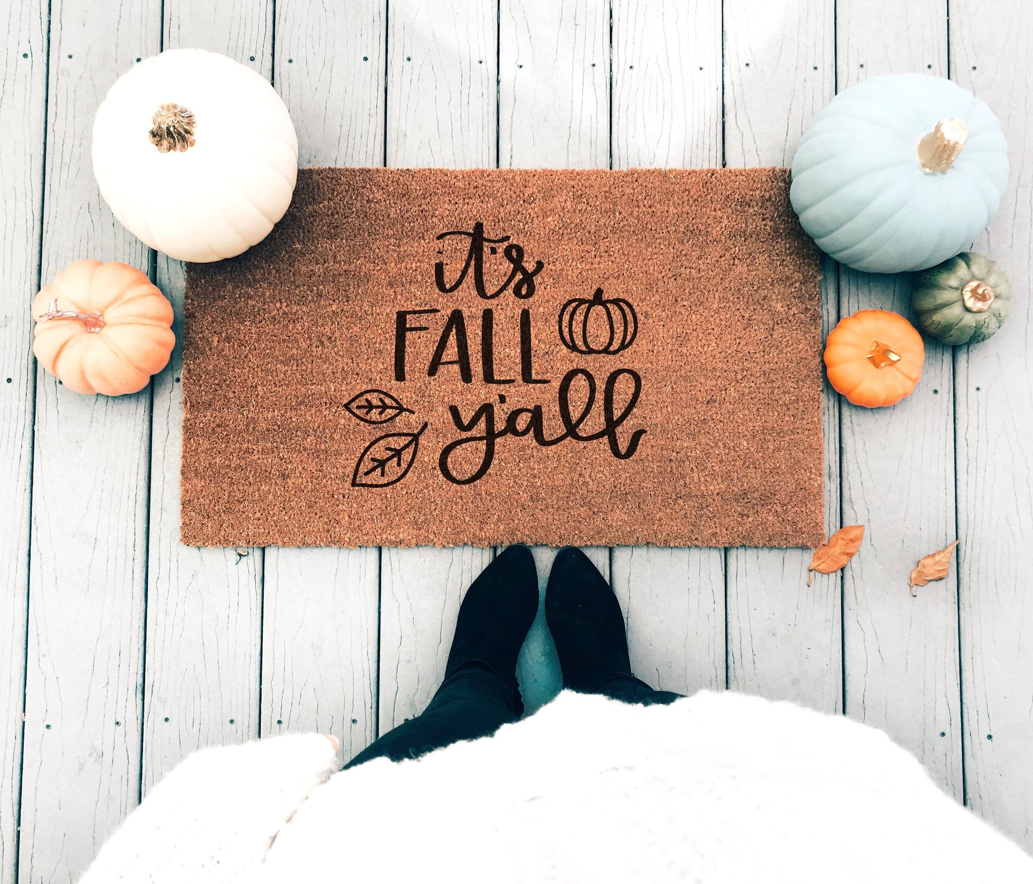 It's Fall Y'all Doormat - A Little Tinsel