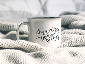 Sweater Weather / White Campfire Mug - A Little Tinsel