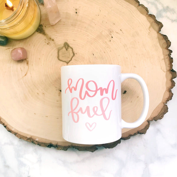 Mom Fuel Mug (Pink Ombre) | A Little Tinsel