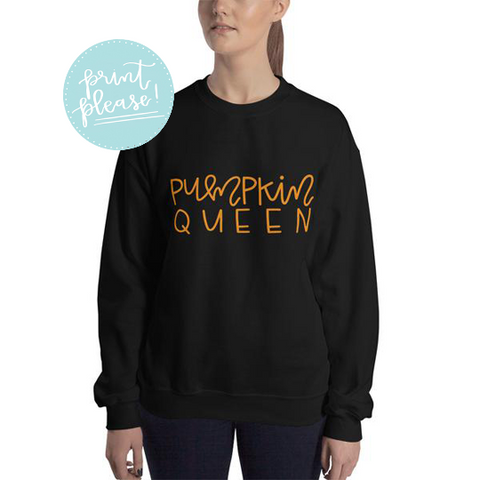 Pumpkin Queen Sweatshirt - A Little Tinsel