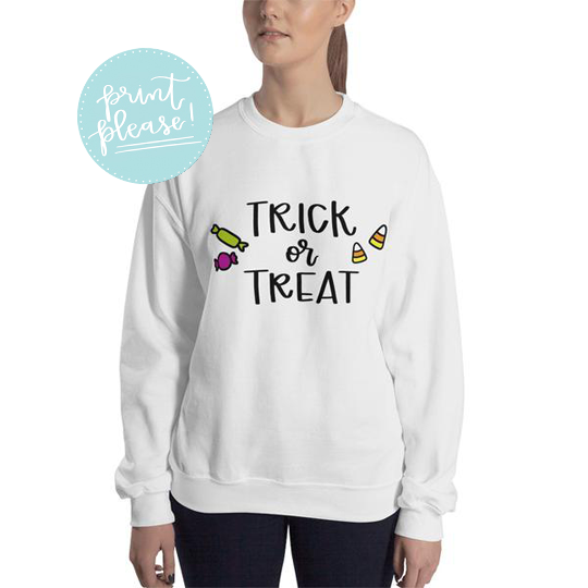 Trick or Treat Sweatshirt - A Little Tinsel