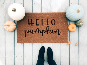 Hello Pumpkin Doormat - A Little Tinsel
