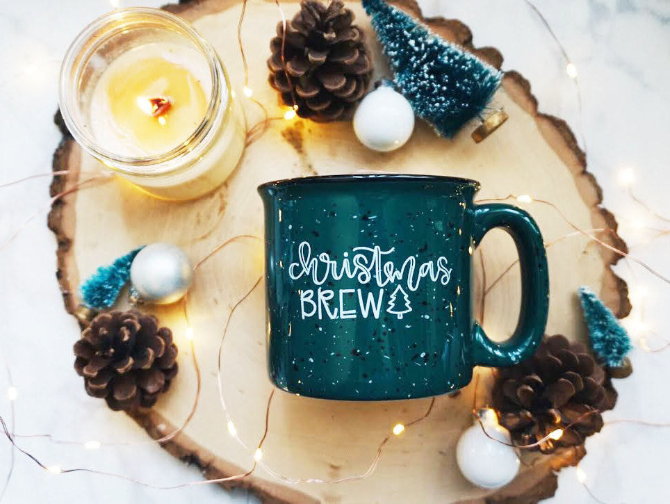 Christmas Brew / Green Campfire Mug - A Little Tinsel