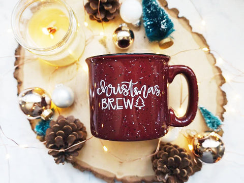 Christmas Brew / Red Campfire Mug - A Little Tinsel