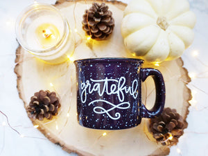 Grateful / Purple Campfire Mug - A Little Tinsel