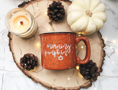 Morning Pumpkin / Orange Campfire Mug - A Little Tinsel