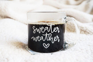 Sweater Weather / Glass Mug - A Little Tinsel