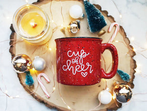 Cup of Cheer / Red Campfire Mug | A Little Tinsel