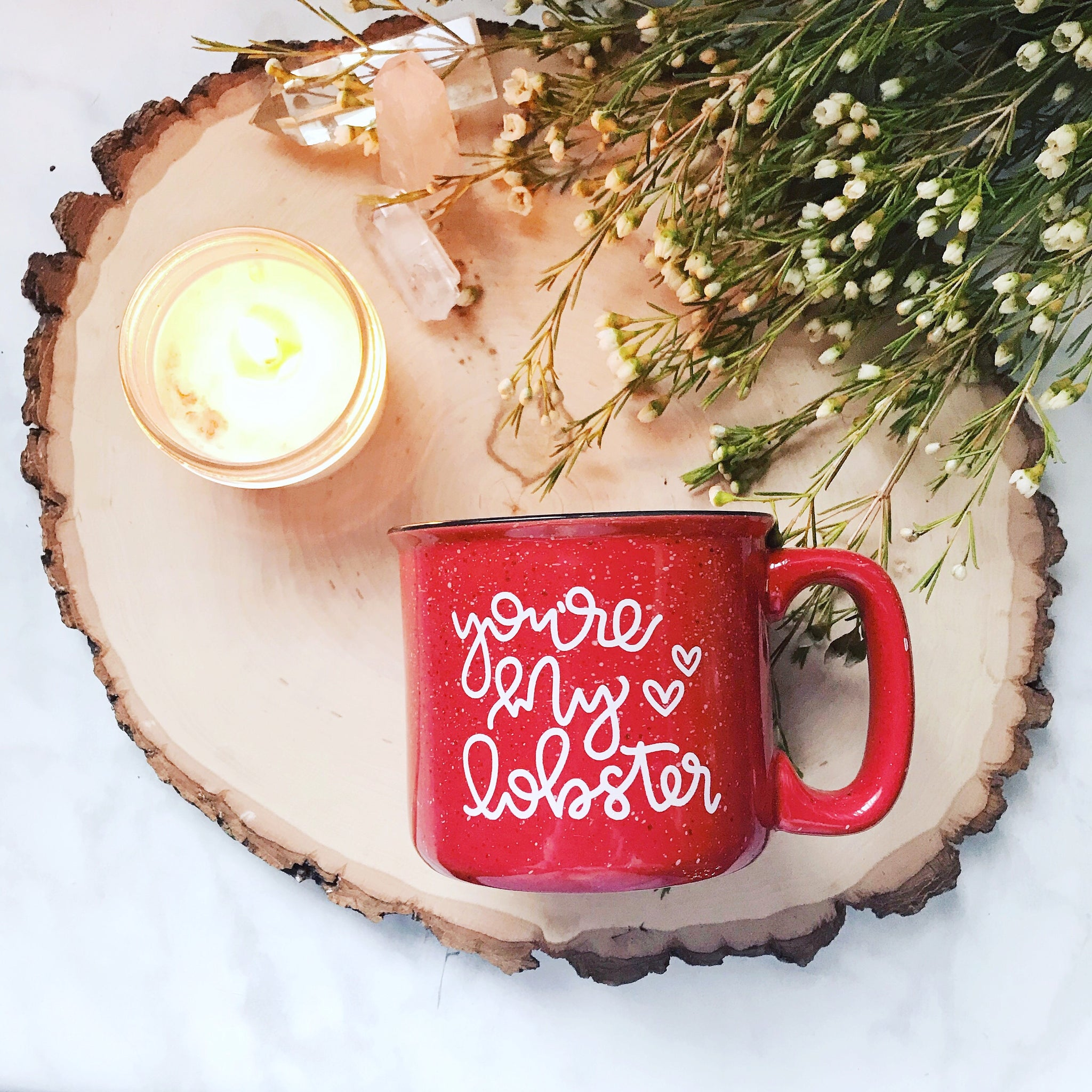 You're My Lobster / Red Campfire Mug - A Little Tinsel