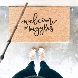 Welcome Muggles Doormat - A Little Tinsel