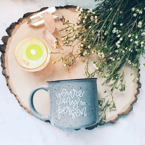 IMPERFECT You're My Person / Grey Campfire Mug | A Little Tinsel