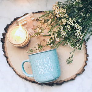 Let Love Brew / Marble Campfire Style Mug | A Little Tinsel