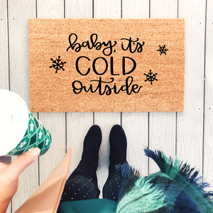 Baby, It's Cold Outside Doormat - A Little Tinsel