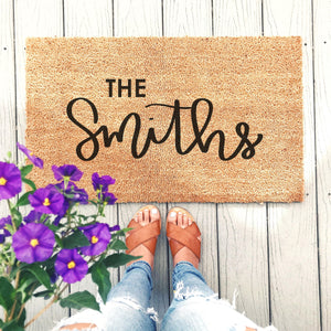 Custom Last Name Doormat - A Little Tinsel