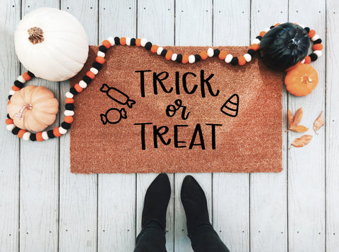 Trick or Treat Doormat - A Little Tinsel