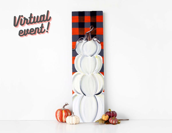 *VIRTUAL* Art Workshop | Fall Plaids & Pumpkins Indoor/Outdoor Pallet | 10.15.20 @ 7 PM