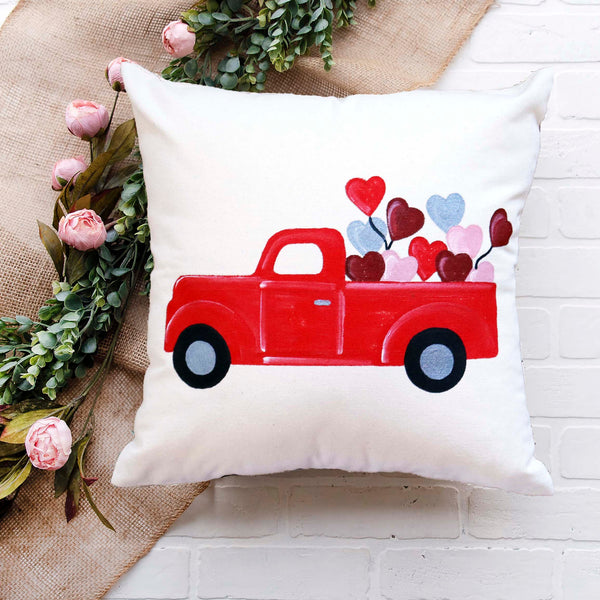 Virtual Art Workshop | Valentine Red Truck Pillow | 2.9.21 at 7 PM