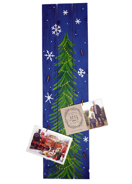 Virtual Art Workshop | Festive Card Tree Pallet Sign | 12.10.20 @ 7 PM